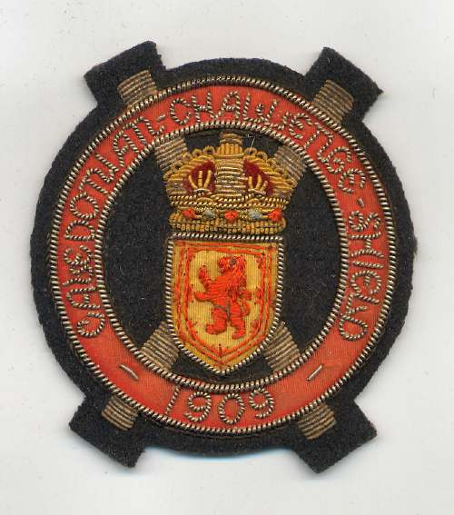 Caledonian Challenge Shield badge - Robert Mackay 1909