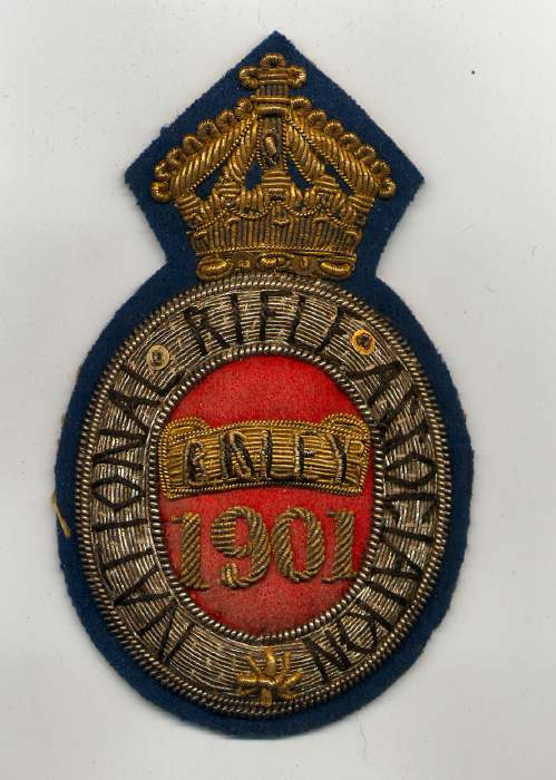 National Rifle Association ~ Bisley badge - Robert Mackay 1901