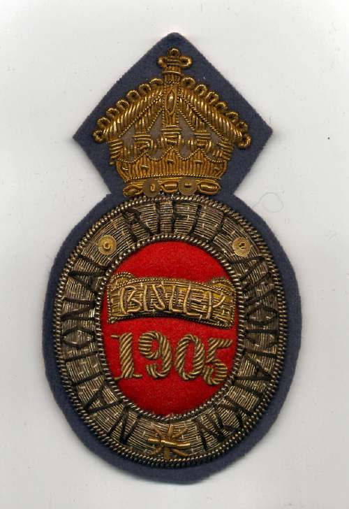 National Rifle Association ~ Bisley badge - Robert Mackay 1905