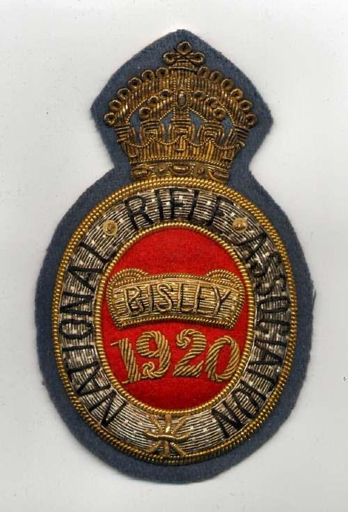 National Rifle Association ~ Bisley badge - Robert Mackay 1920
