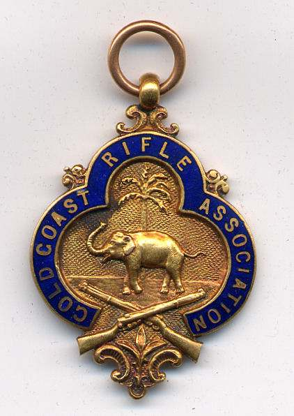 Gold Coast Rifle Association medal - Robert Mackay 1926/7