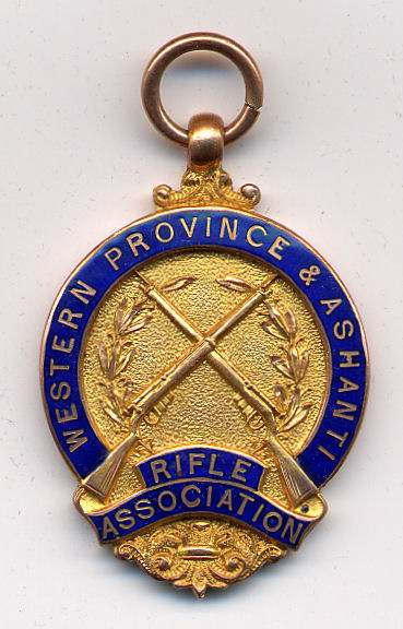 Western Province & Ashanti Rifle Association medal - Robert Mackay 1927/8
