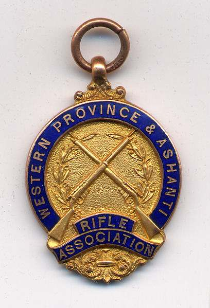 Western Province & Ashanti Rifle Association medal - Robert Mackay 1924