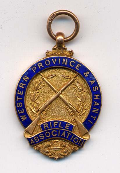 Western Province & Ashanti Rifle Association medal - Robert Mackay 1925