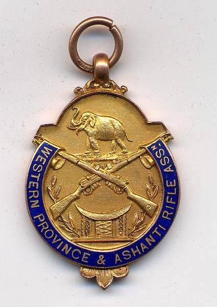 Western Province & Ashanti Rifle Association medal - Robert Mackay 1928
