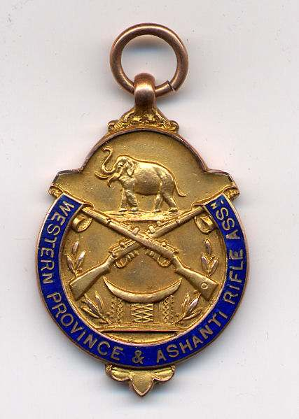 Western Province & Ashanti Rifle Association medal - Robert Mackay 1929