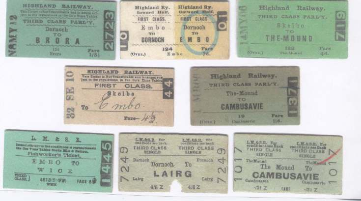 Highland and LMS Railway Tickets