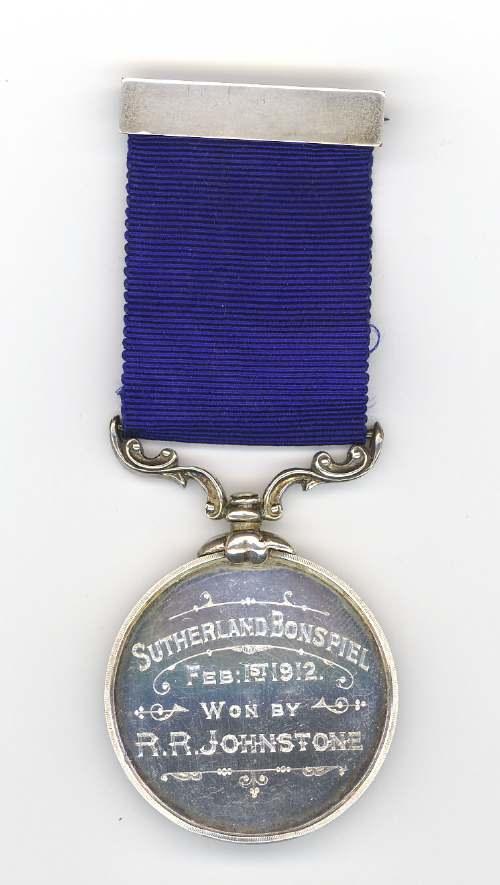 Medal for the Sutherland Bonspiel