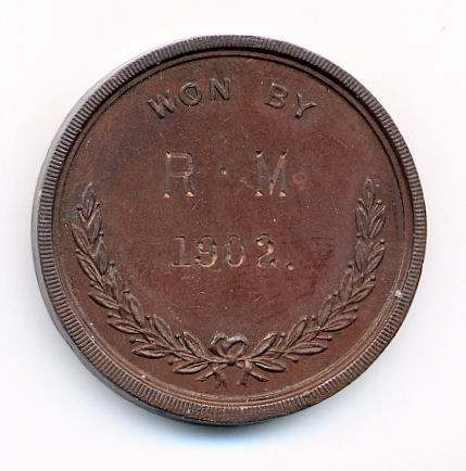 Dornoch Golf Club medal - Robert Mackay 1902
