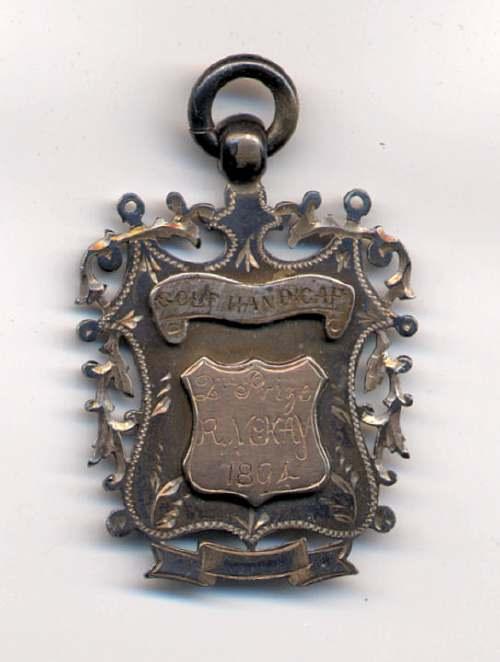 Silver golf medal - Robert Mackay 1894