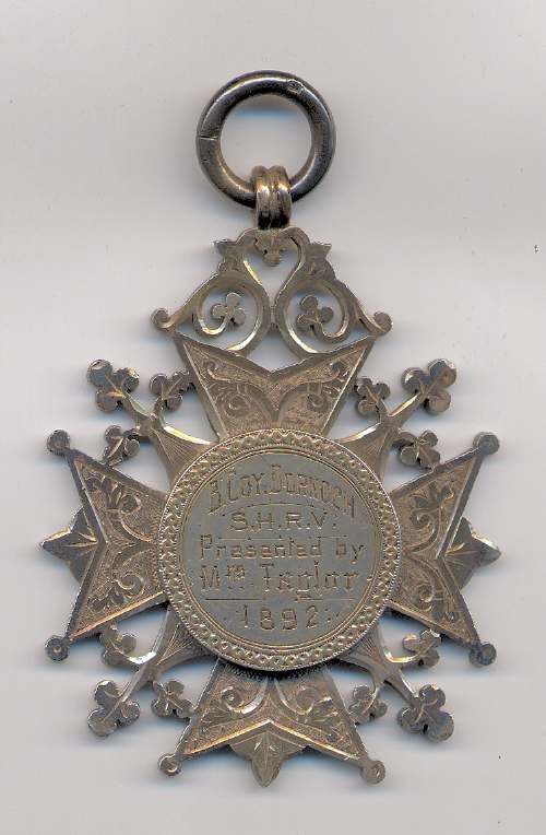 Sutherland Highland Rifle Volunteers shooting medal - Robert Mackay 1892