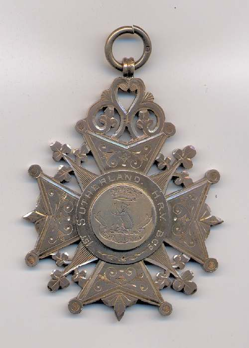 Sutherland Highland Rifle Volunteers shooting medal - Robert Mackay 1896