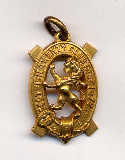 Scottish Twenty Club medal - Robert Mackay 1889/90