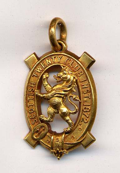 Scottish Twenty Club medal - Robert Mackay 1892/3