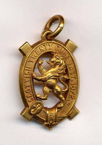 Scottish Twenty Club medal - Robert Mackay 1892/93