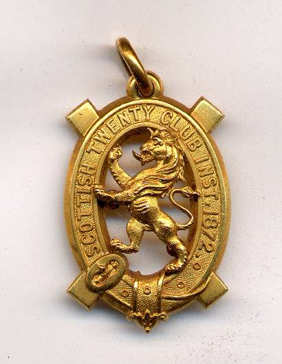 Scottish Twenty Club medal - Robert Mackay 1897/98