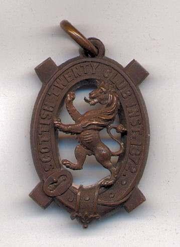Scottish Twenty Club medal - Robert Mackay