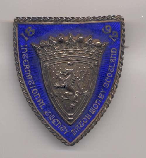 International Twenty Match badge - Robert Mackay 1892