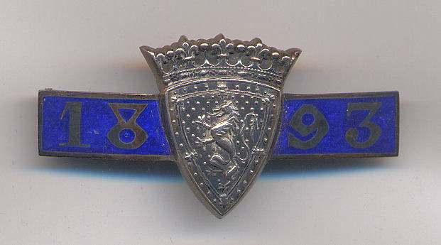 International Twenty Match badge - Robert Mackay 1893