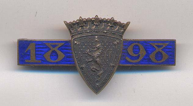 International Twenty Match badge - Robert Mackay 1898