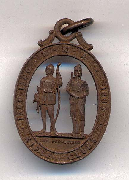 NRA Rifle Clubs medal  - Robert Mackay
