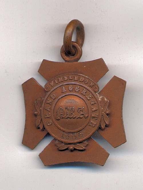 Grand Aggregate Wimbledon medal  - Robert Mackay 1886