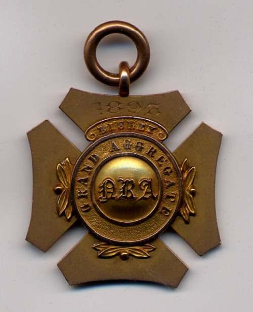 Grand Aggregate Bisley medal  - Robert Mackay 1893