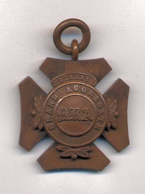Grand Aggregate Bisley medal  - Robert Mackay 1896