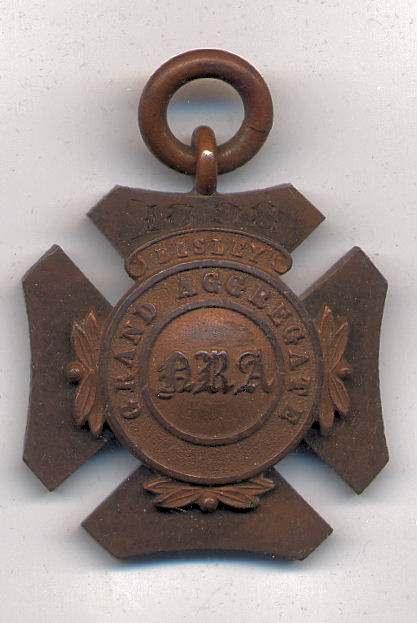 Grand Aggregate Bisley medal  - Robert Mackay 1898