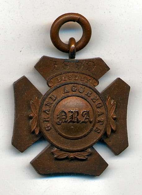 Grand Aggregate Bisley medal  - Robert Mackay 1899