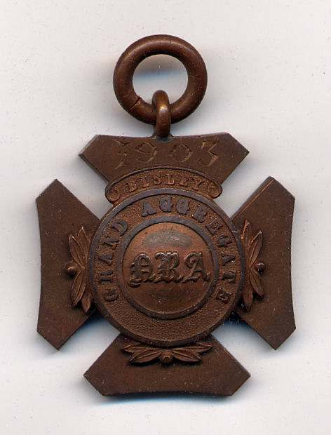 Grand Aggregate Bisley medal  - Robert Mackay 1903