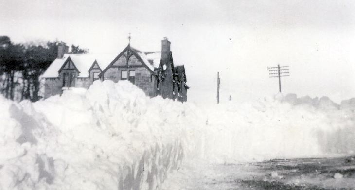 Winter, February 1955 ~ snow
