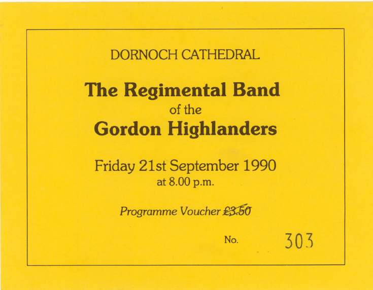 Cathedral concert ticket 1990