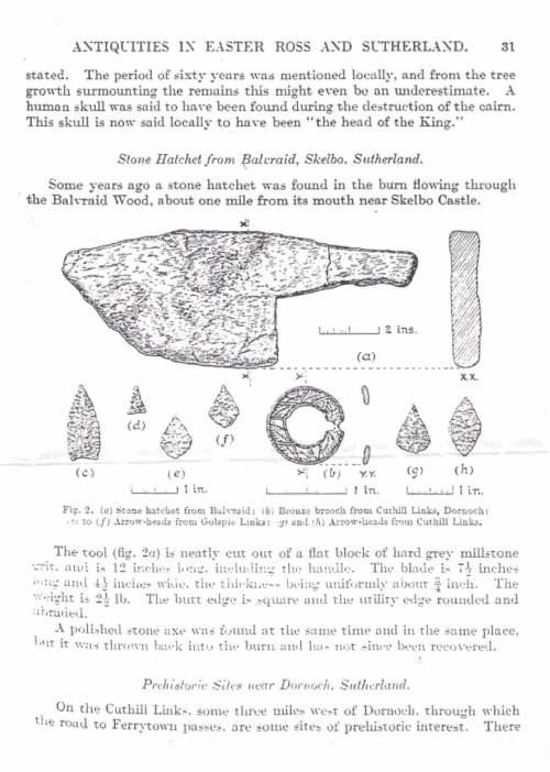 Stone hatchet from Balvraid