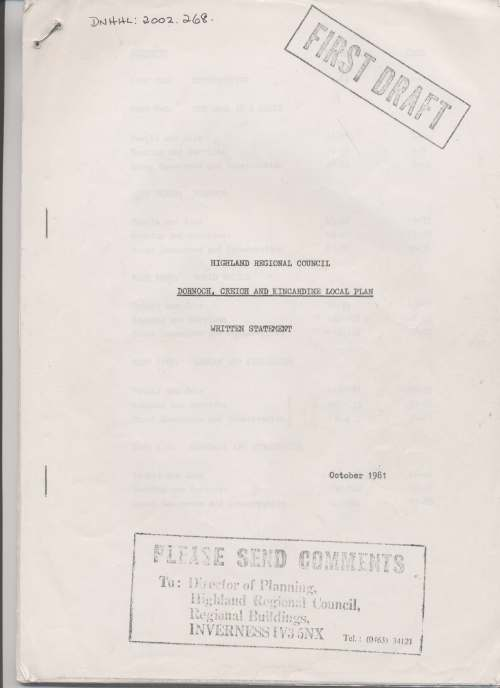 Dornoch, Creich and Kincardine local plan