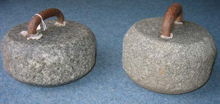 Early curling stones (2 objects)