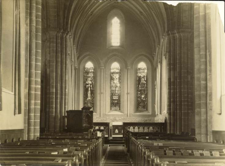 Cathedral interior looking towards east end