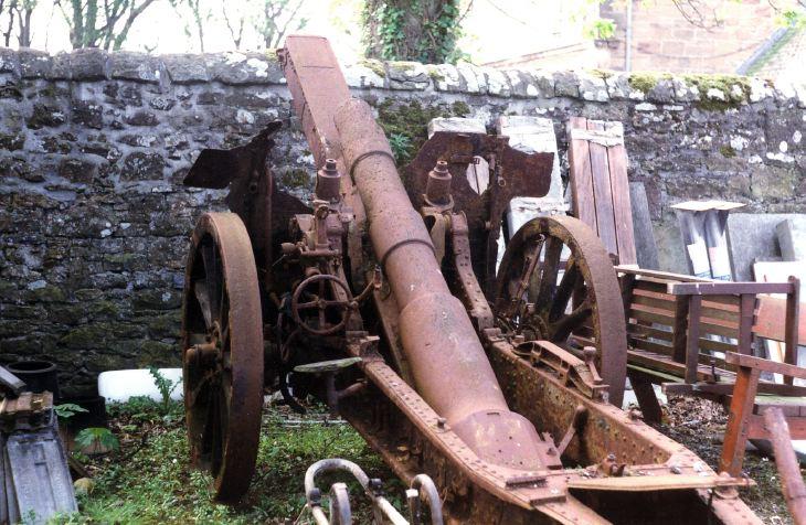 Dredged up German gun