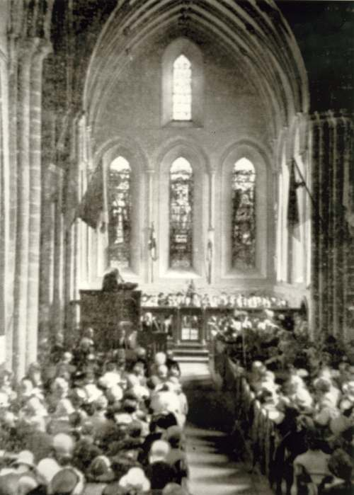 Cathedral service 1924