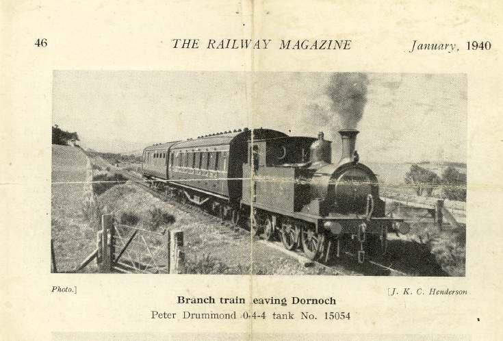 Branch train leaving Dornoch