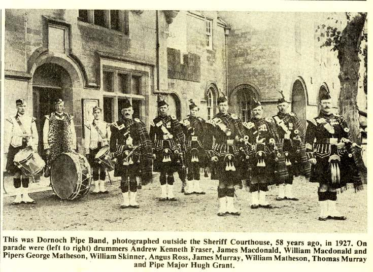 Dornoch Pipe Band 1927