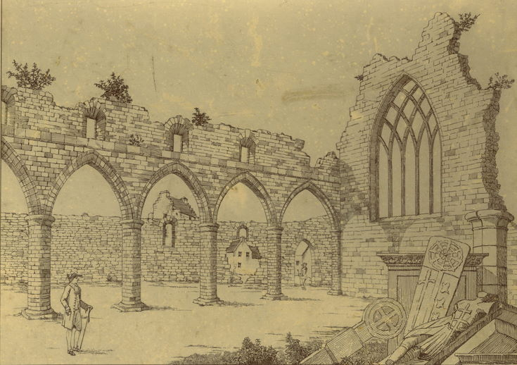 Copy from Cordiner's sketch of cathedral nave
