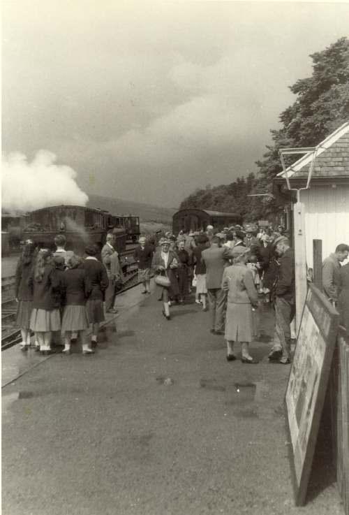 Passengers at Dornoch Station