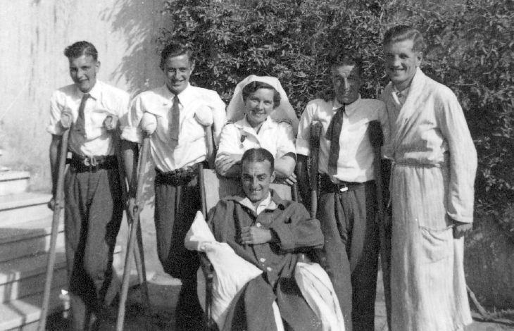 Nurse and patients