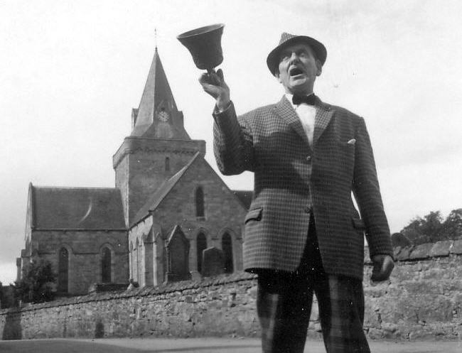 Simon Bain, town crier 1950s