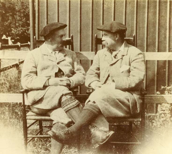 Two golfers - Arthur Ryle and Dr Sing