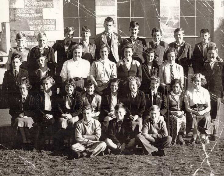Dornoch Academy Class IIX in the 1950's