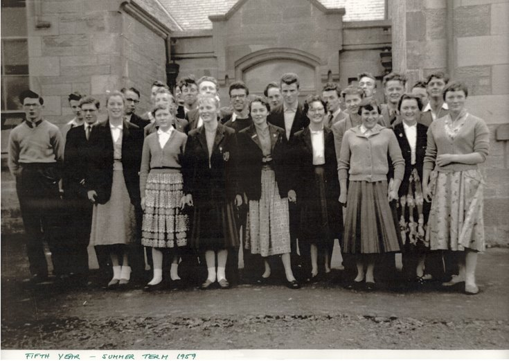 Dornoch Academy Fifth Year Pupils 1959