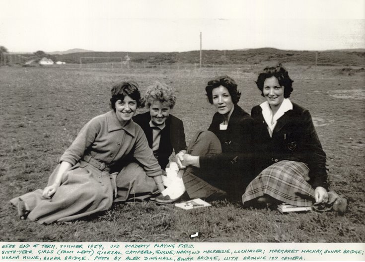 Sixth Year Girls Dornoch Academy 1959