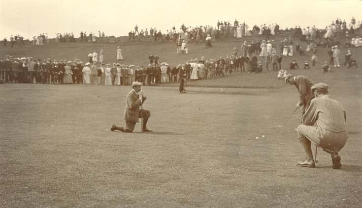Golf match Harry Vardon/James Braid 1906